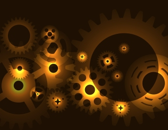 Machine Gear Wheel Cogwheel  pattern.  illustration.