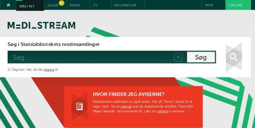 Mediestream Aviser - header